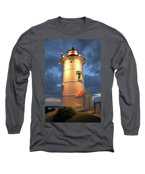 Long Sleeve T-Shirt featuring the photograph Nobska Point Lighthouse by Roupen  Baker
