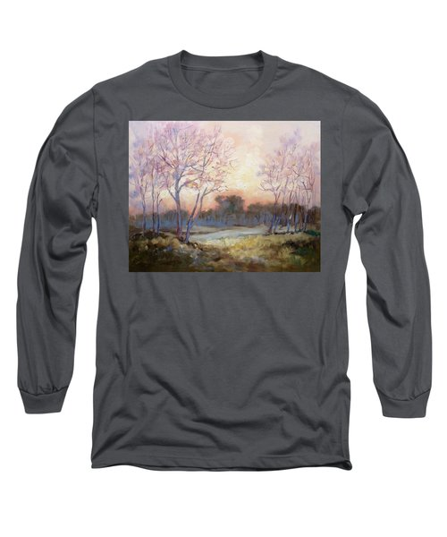 Nocturnal Landscape Long Sleeve T-Shirt by Irek Szelag