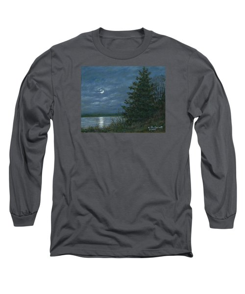 Nocturne In Blue Long Sleeve T-Shirt by Kathleen McDermott
