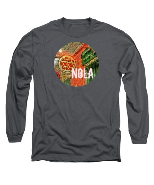 New Orleans Voodoo T Shirt Long Sleeve T-Shirt by Valerie Reeves