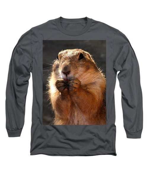 Snacking Prairie Dog Long Sleeve T-Shirt