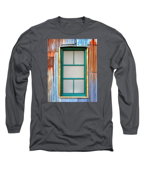Nonwindow Surrounded By Color Long Sleeve T-Shirt by Gary Slawsky