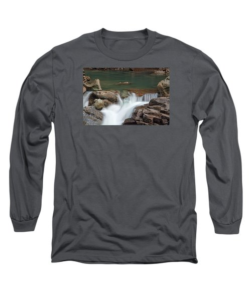 Long Sleeve T-Shirt featuring the photograph Nooksack Falls by Sabine Edrissi