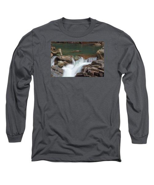 Nooksack Falls Long Sleeve T-Shirt by Sabine Edrissi