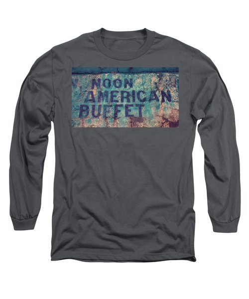 Long Sleeve T-Shirt featuring the photograph Noon American Buffet by Toni Hopper