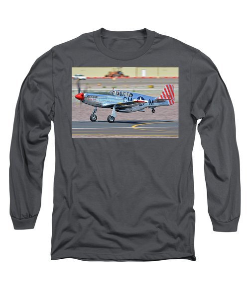 Long Sleeve T-Shirt featuring the photograph North American Tp-51c-10 Mustang Nl251mx Betty Jane Deer Valley Arizona April 13 2016 by Brian Lockett