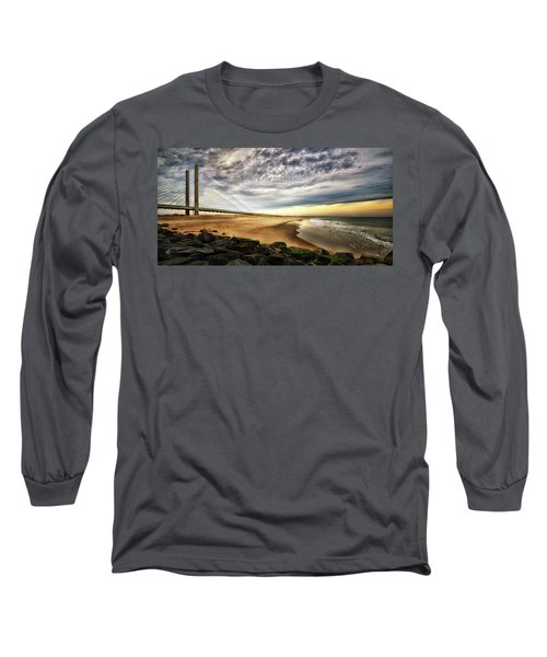 North Beach At Indian River Inlet Long Sleeve T-Shirt