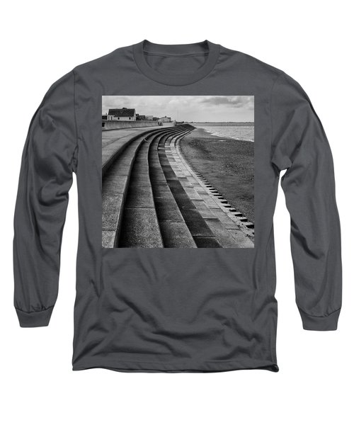 North Beach, Heacham, Norfolk, England Long Sleeve T-Shirt by John Edwards
