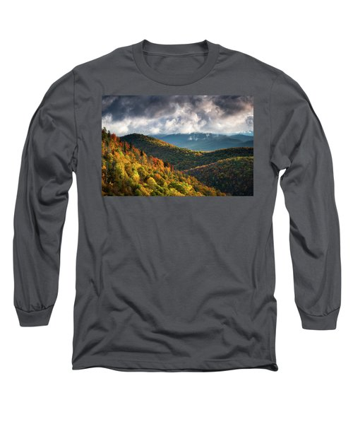North Carolina Mountains Asheville Nc Autumn Sunrise Long Sleeve T-Shirt