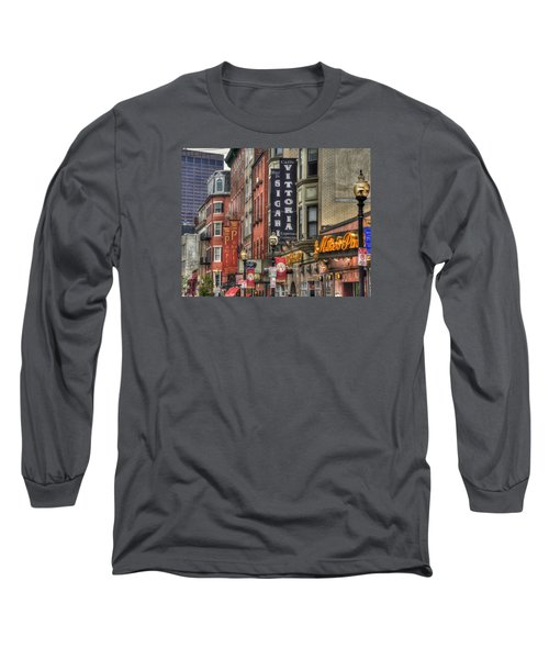 North End Charm 11x14 Long Sleeve T-Shirt by Joann Vitali