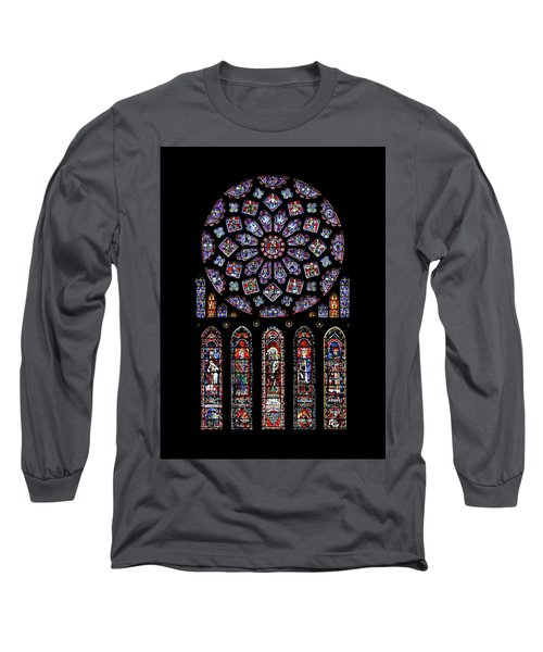 North Rose Window Of Chartres Cathedral Long Sleeve T-Shirt