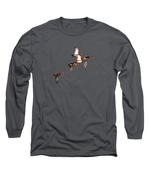 Northern Shoveler Long Sleeve T-Shirt by Manjot Singh Sachdeva