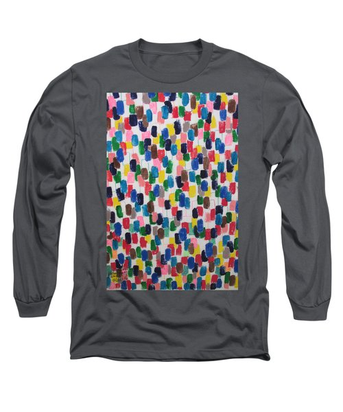 Long Sleeve T-Shirt featuring the painting Northwood Way - Artwork On T-shirt by Mudiama Kammoh