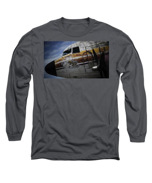 Long Sleeve T-Shirt featuring the photograph Nose Art by Michael Nowotny