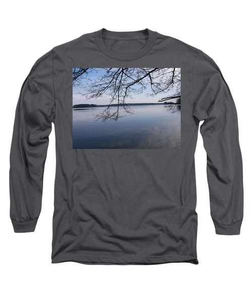 Long Sleeve T-Shirt featuring the digital art Not A Ripple by Barbara S Nickerson