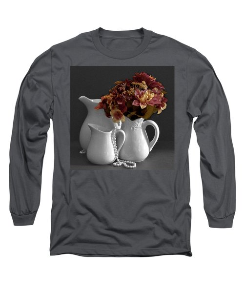 Long Sleeve T-Shirt featuring the photograph Not All Is Black And White by Sherry Hallemeier