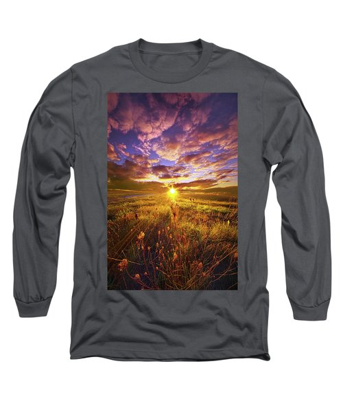 Long Sleeve T-Shirt featuring the photograph Not Yet Vanquished by Phil Koch