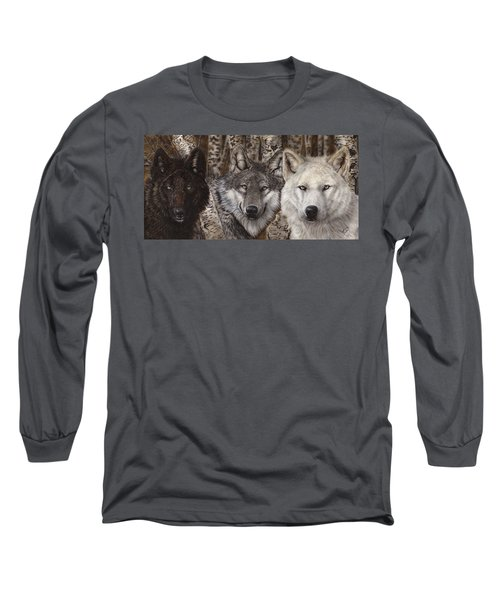Nothing Is Ever Just Black And White Long Sleeve T-Shirt