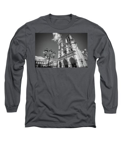 Notre Dame Black And White Long Sleeve T-Shirt