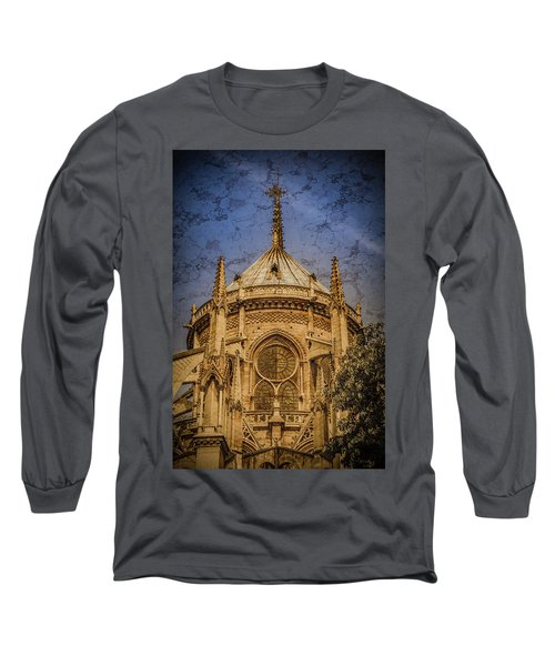 Paris, France - Notre-dame De Paris - Apse Long Sleeve T-Shirt