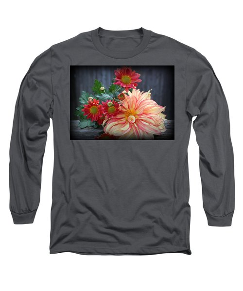 November  Flowers - Still Life Long Sleeve T-Shirt by Dora Sofia Caputo Photographic Art and Design