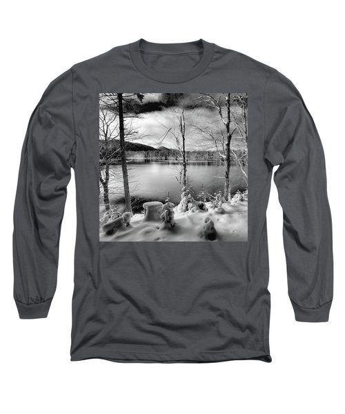 November On West Lake Long Sleeve T-Shirt by David Patterson