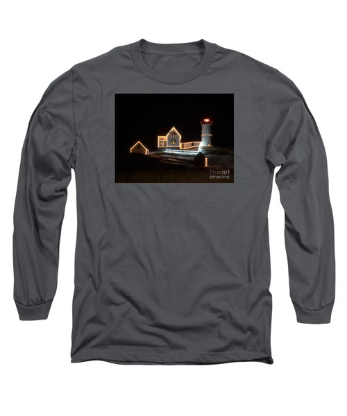 Nubble At Night Long Sleeve T-Shirt by Patrick Fennell