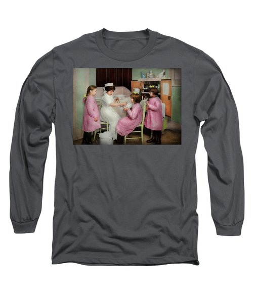 Long Sleeve T-Shirt featuring the photograph Nurse - Playing Nurse 1918 by Mike Savad