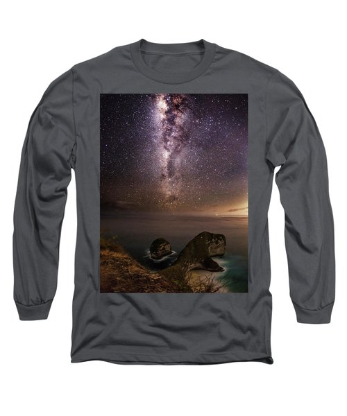 Nusa Penida Beach At Night Long Sleeve T-Shirt