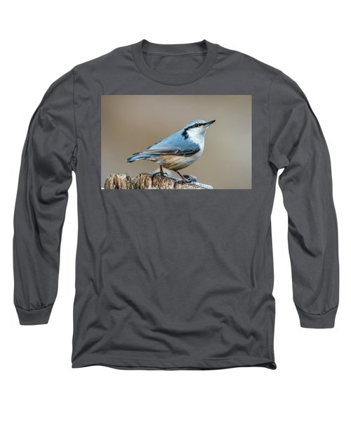 Nuthatch's Pose Long Sleeve T-Shirt by Torbjorn Swenelius