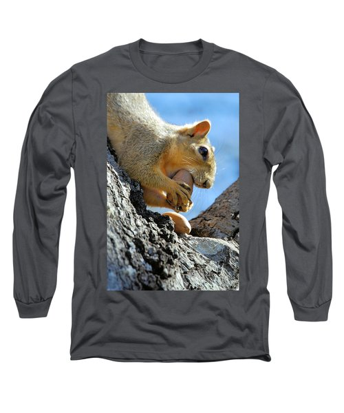 Long Sleeve T-Shirt featuring the photograph Nutjob by Debbie Karnes