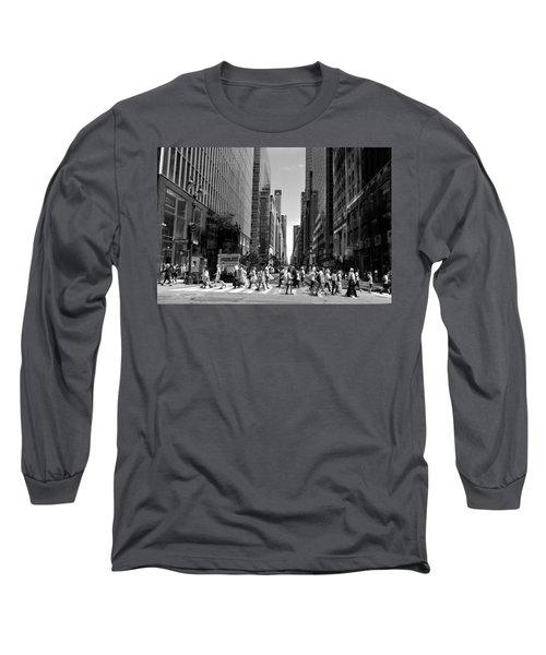 Nyc 42nd Street Crosswalk Long Sleeve T-Shirt