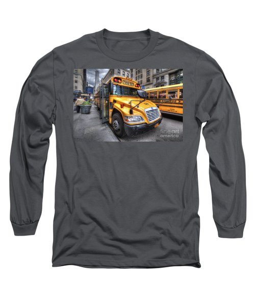 Nyc School Bus Long Sleeve T-Shirt