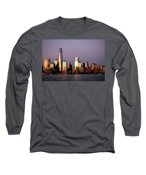 Nyc Skyline At Dusk Long Sleeve T-Shirt
