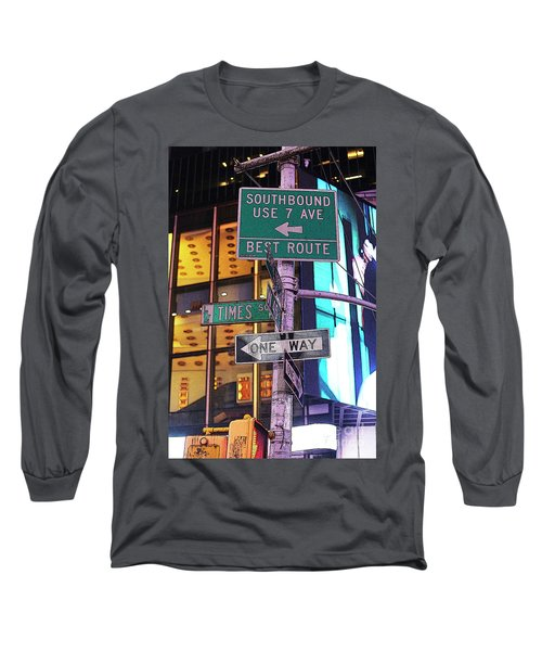 Nyc Street Sign Long Sleeve T-Shirt