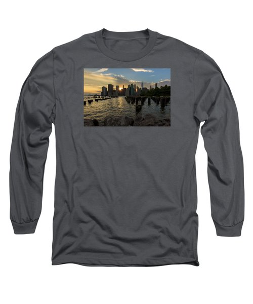 Long Sleeve T-Shirt featuring the photograph Nyc Sunset by Anthony Fields
