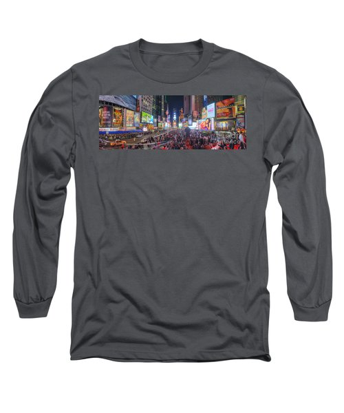 Nyc Times Square Panorama Long Sleeve T-Shirt
