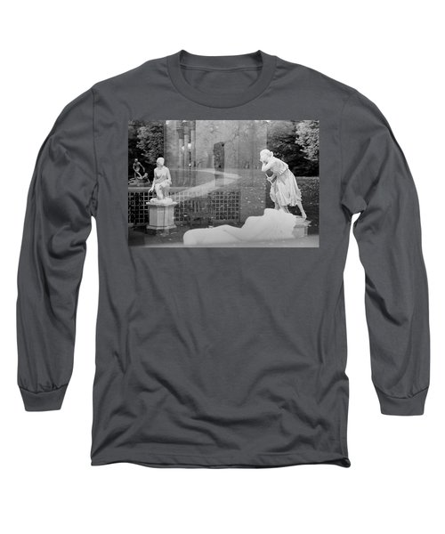 Nyc Whispering Statues Long Sleeve T-Shirt