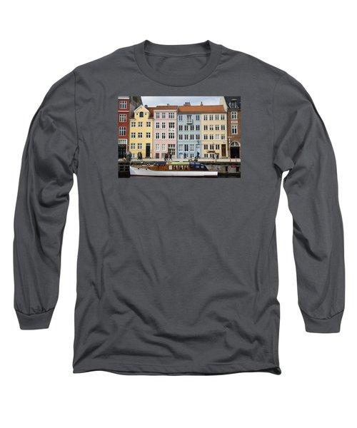 Nyhavn Pastels Long Sleeve T-Shirt by Eric Nielsen