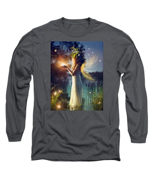 Nymph Of August Long Sleeve T-Shirt by Lilia D