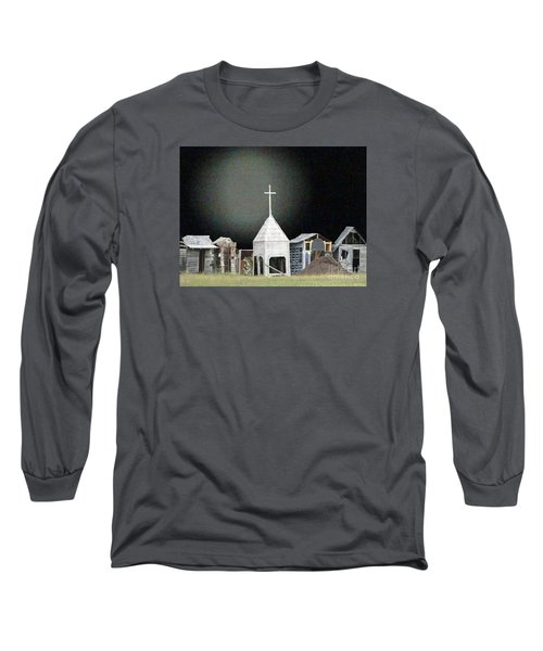 Long Sleeve T-Shirt featuring the digital art O Little Town by Lyric Lucas
