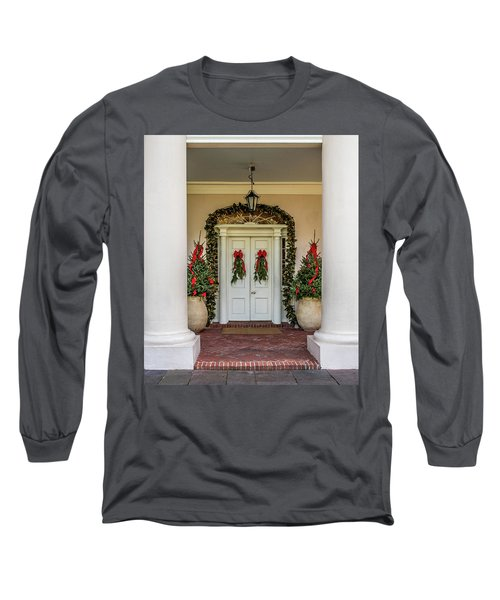 Long Sleeve T-Shirt featuring the photograph Oak Alley Plantation Doors by Paul Freidlund