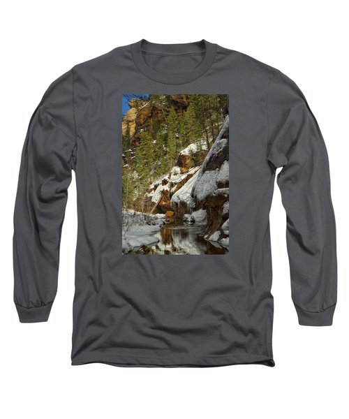 Long Sleeve T-Shirt featuring the photograph Oak Creek Beckons by Tom Kelly