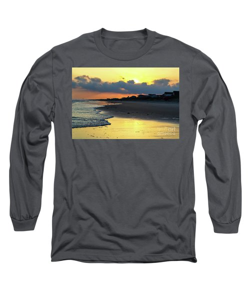 Oak Island Yellow Sunset Long Sleeve T-Shirt