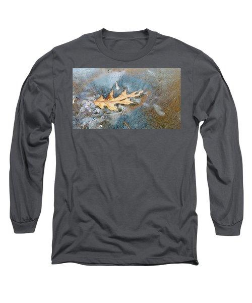 Oak Leaf Frozen On Ice Long Sleeve T-Shirt