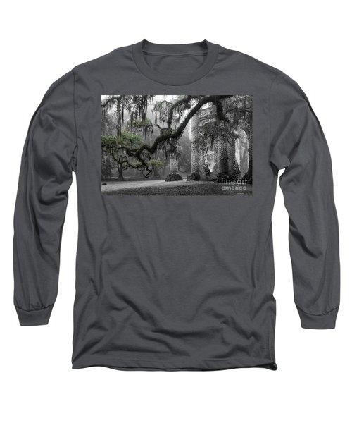 Oak Limb At Old Sheldon Church Long Sleeve T-Shirt