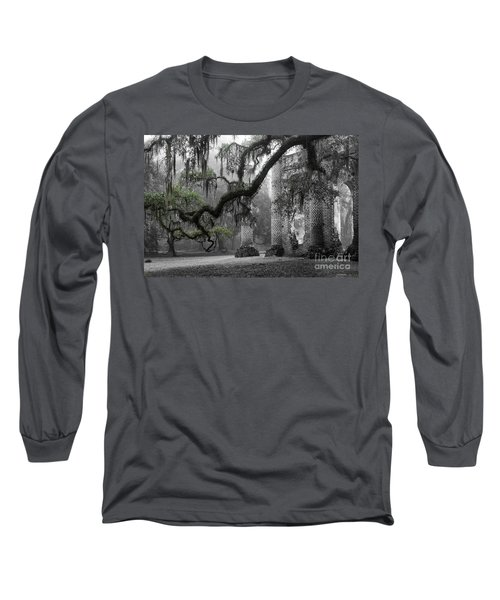 Oak Limb At Old Sheldon Church Long Sleeve T-Shirt