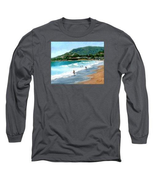 Oak Street Beach, Laguna Beach Long Sleeve T-Shirt by Alice Leggett
