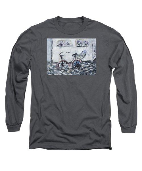Oana's Bike Long Sleeve T-Shirt by Evelina Popilian