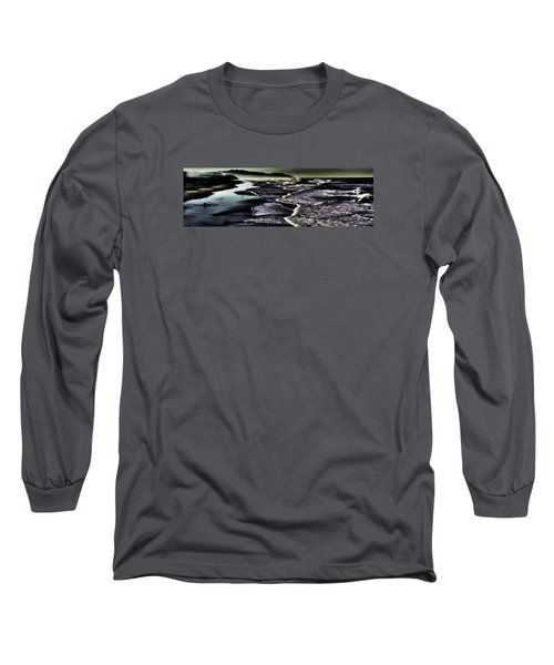 Long Sleeve T-Shirt featuring the photograph Ocean Beach Night by Steve Siri